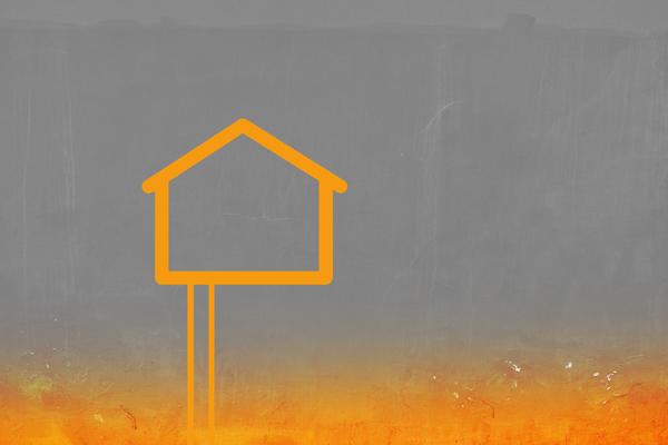 Haus mit Tiefensonde